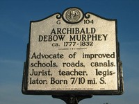 A plaque commemorating Murphey's life in Chapel Hill.