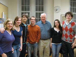 Mike Taylor with Eta Sigma Phi members