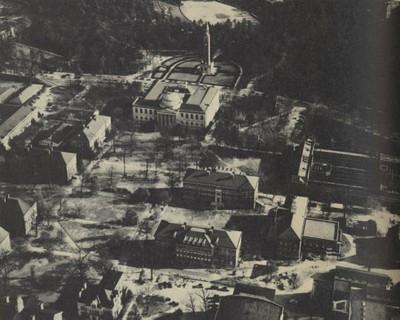 Aerial photograph of UNC campus in 1953.