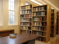Renovated Ullman library, a view of the stacks