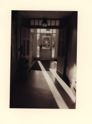 A view of a Murphey hallway as it once was