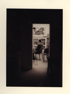 George Houston, then chair, reclines in the department