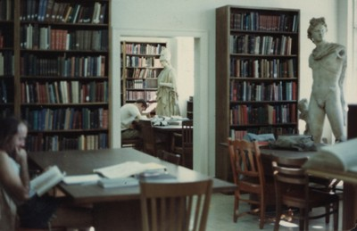 The department library in the 1980s. | G. Houston