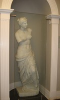No longer in the departmental library, the Murphey Hall statue of Aphrodite of Melos is now displayed in the first-floor hallway.