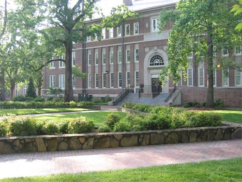 Murphey Hall in the spring