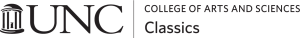 College of Arts and Sciences Classics with UNC logo