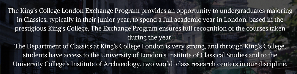 Study Abroad and Summer Programs | Department of Classics