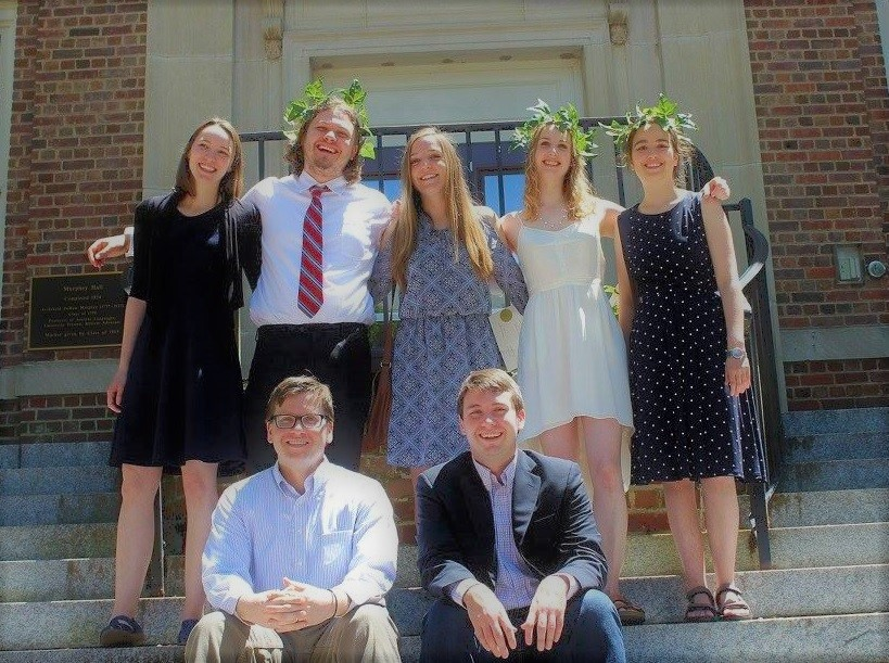 Classics students on graduation day