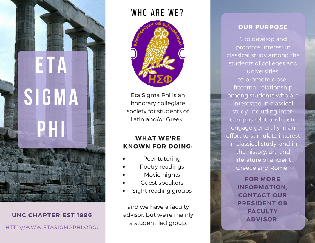 Eta Sigma Phi flyer