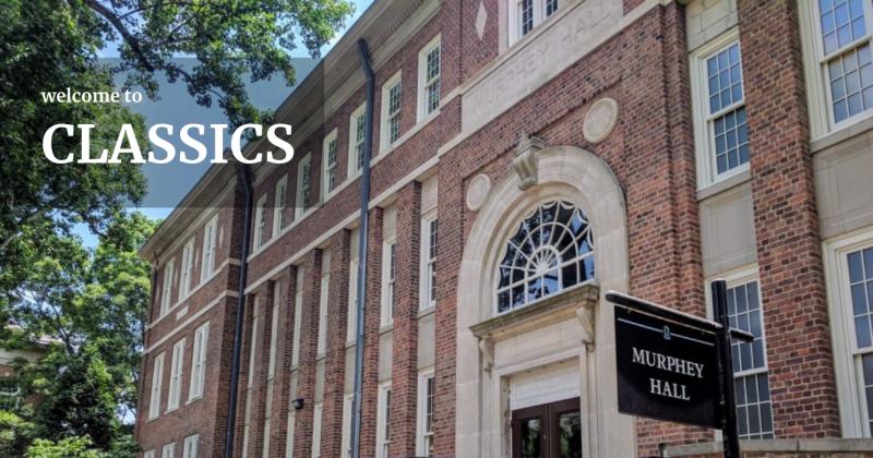 Classics banner featuring Murphey Hall