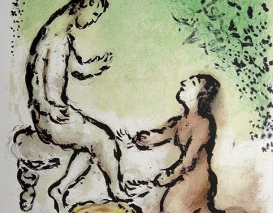 An illustration of the Odyssey by Marc Chagall